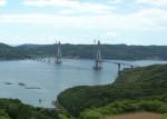 写真:鷹島肥前大橋(仮称)建設中