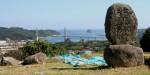 写真:名護屋城跡から呼子大橋を望む